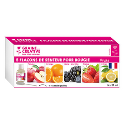 Parfum à bougie 5 x 27 ml Fruits