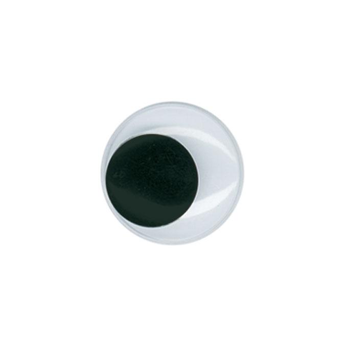 Yeux mobiles Noir Ø 15 mm 20 pcs
