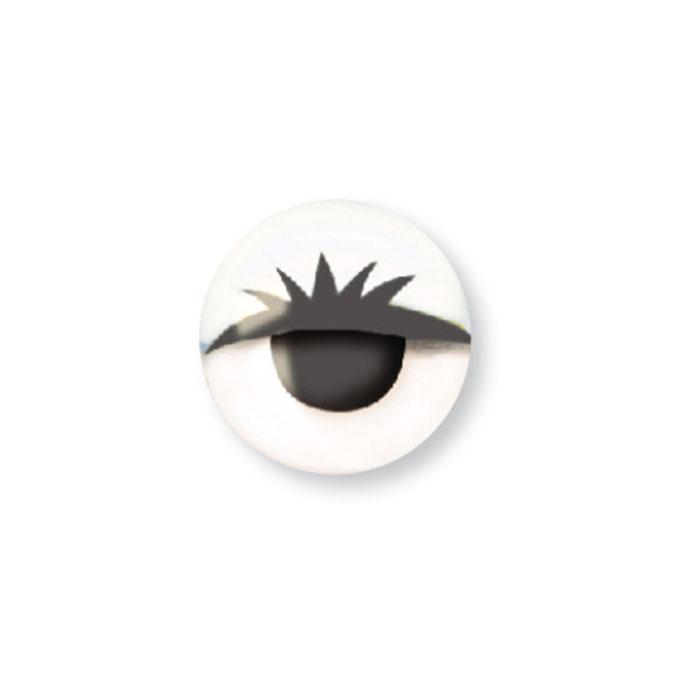 Yeux mobiles Blanc avec Cils Ø 10 mm 20 pcs