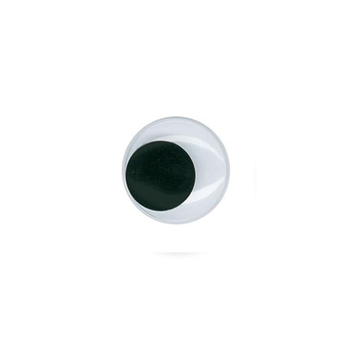 Yeux mobiles Autocollant Noir Ø 20 mm 12 pcs