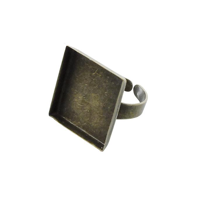 Bague plateau Carré creux Bronze 20 mm
