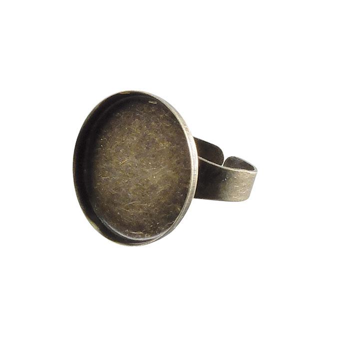 Bague plateau Rond creux Bronze 20 mm