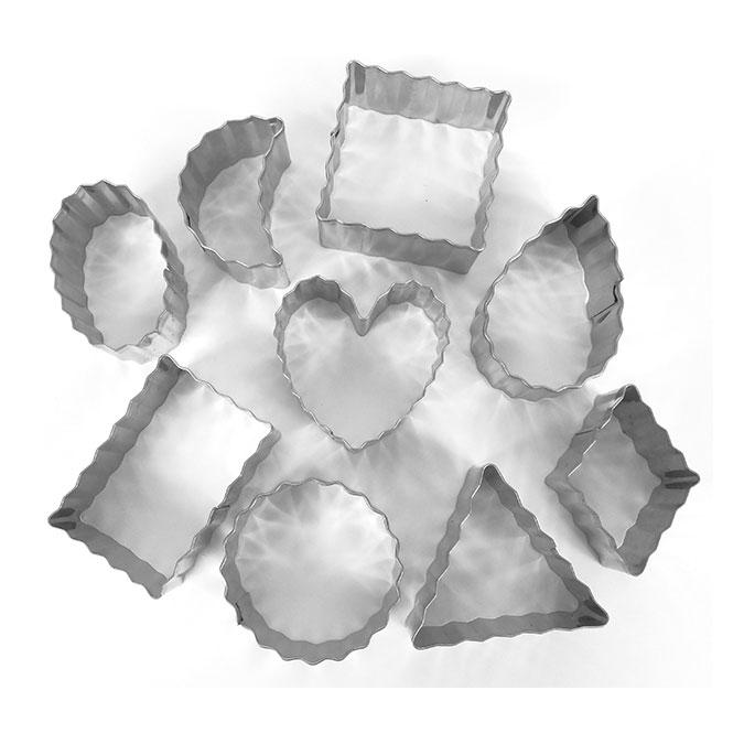 Emporte-pièces Contours ondulés 9 pièces