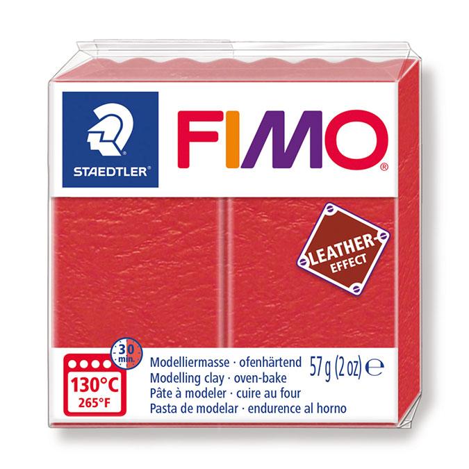 Pâte à modeler polymère Fimo Effect Cuir 57 g 749 Rouille
