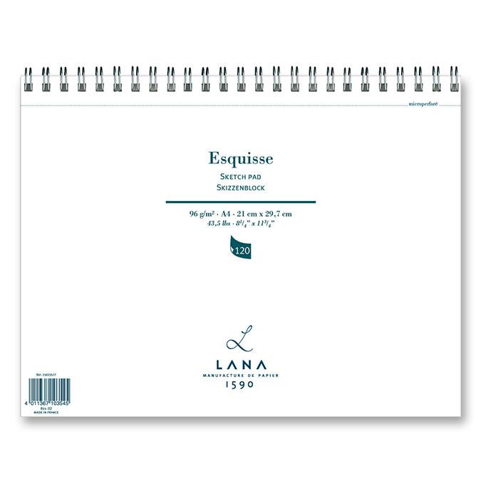 Carnet pour esquisse Lana 96 g/m²