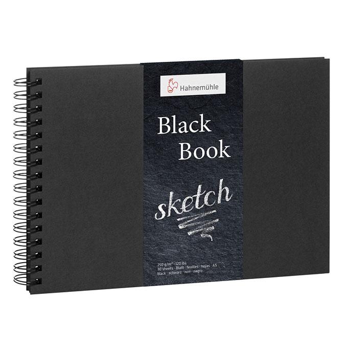 Carnet Black Book pour huile et acrylique 250 g/m²