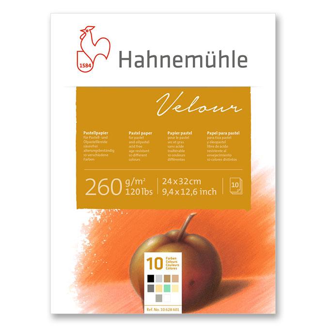 Bloc de papier pastel Velour 260 g/m² couleurs assorties 10 feuilles