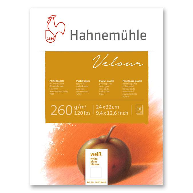 Bloc de papier pastel Velour 260 g/m² blanc 10 feuilles