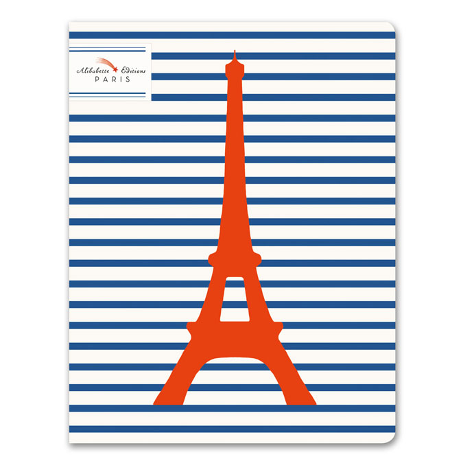 Cahier ligné numéroté 17 x 22 cm 100 g/m² 64 p Matelot Eiffel