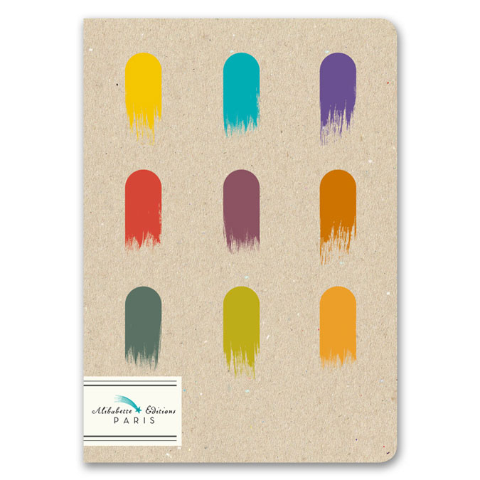 Mini-cahier pages blanches 12 x 17 cm 100 g/m² 64p Gouaches