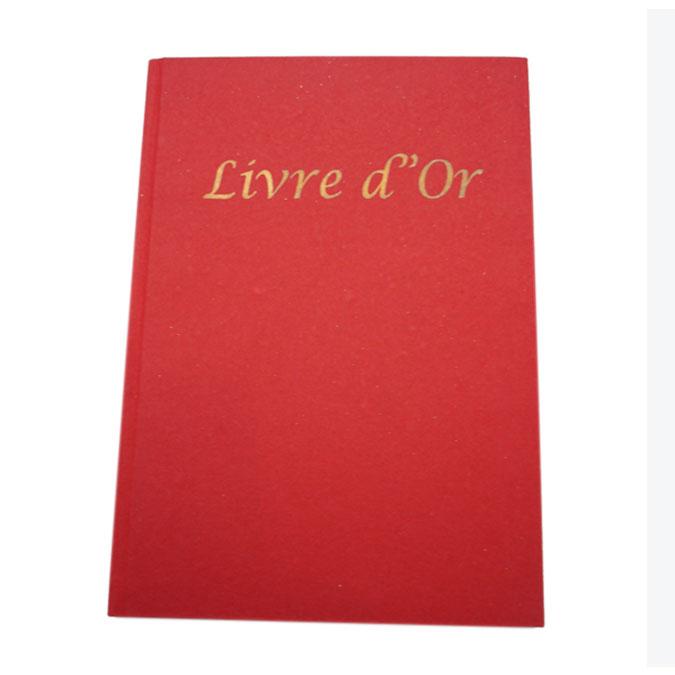 Livre d'or A4 21 x 29,7 cm 120p Rouge