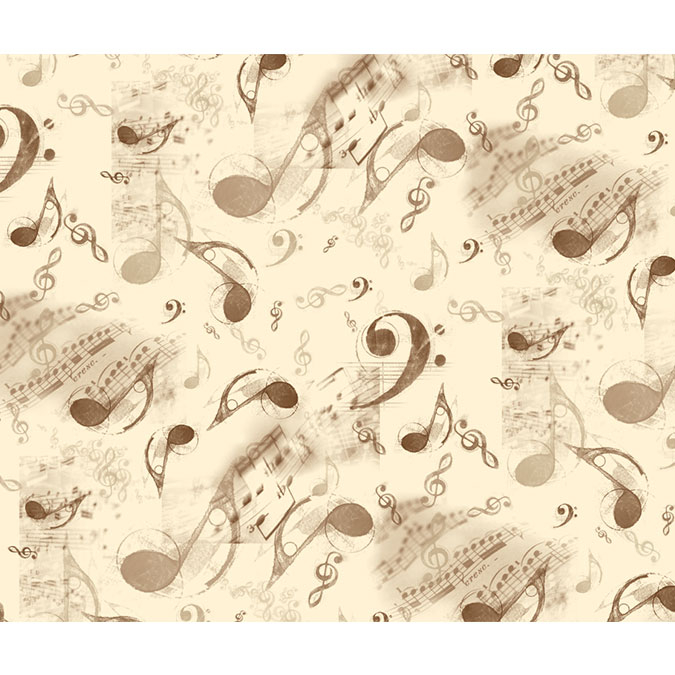 Papier Italien 50 x 70 cm 85 g/m² Note de musique