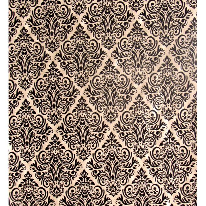 Papier Indien 56 x 76 cm 100 g/m² Kraft fini main motif diamant noir & or