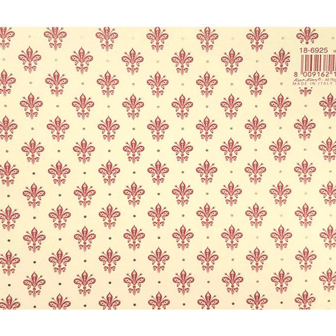 Papier Italien 50 x 70 cm 85 g/m² Lys Bordeaux Dorés