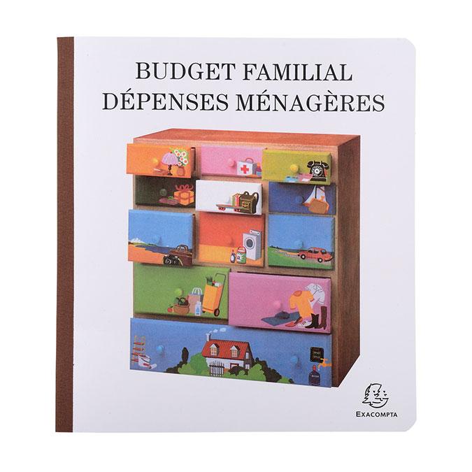 Carnet de dépenses ménagères 56 p 27 x 25 cm