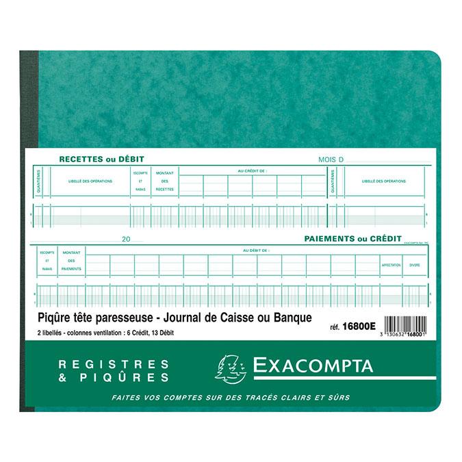 Piqûre Journal de caisse ou banque 27 x 32 cm