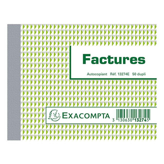 Manifold Factures 10,5 x 13,5 cm 50 F dupli autocopiants