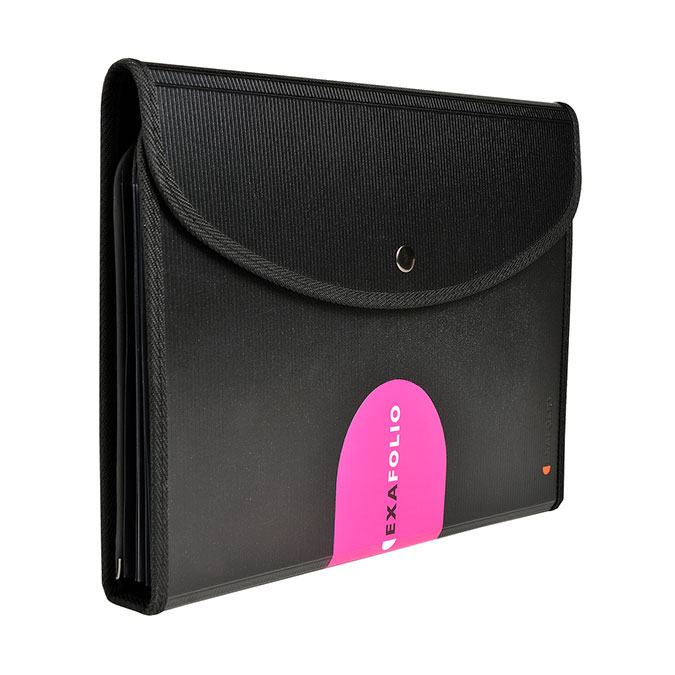 Trieur A4 Exafolio avec porte-bloc et valisette Exactive 6 compartiments