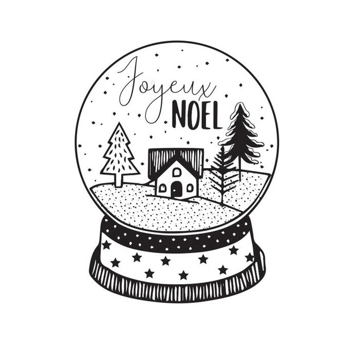 Tampon Noël boule de neige