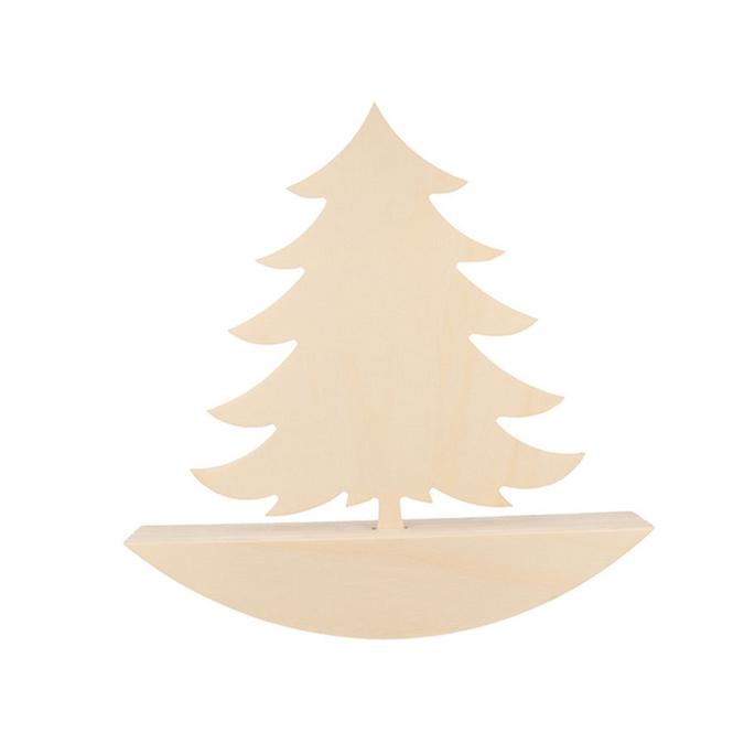 Sapin en bois à bascule 25 x 25 x 4 cm