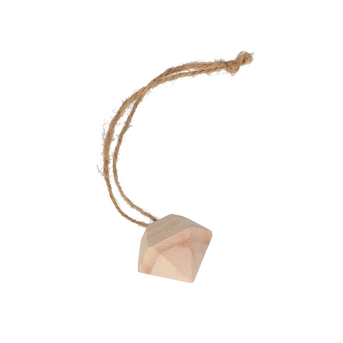 Décoration de noël Diamant en bois 5,5 x 5 cm