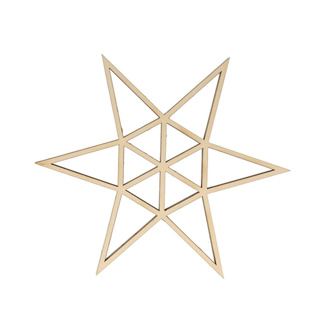 Décoration de noël Étoile en bois Golden Deer