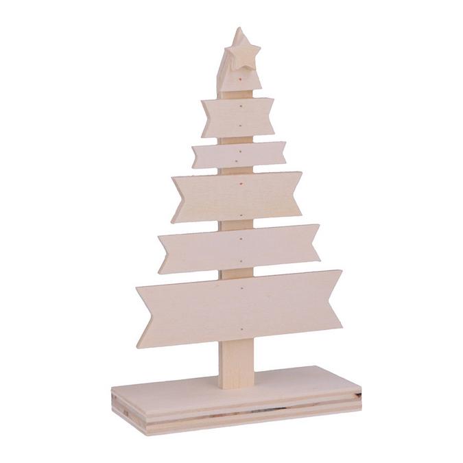 Décoration de noël Sapin en bois 9 x 4,5 x 15 cm