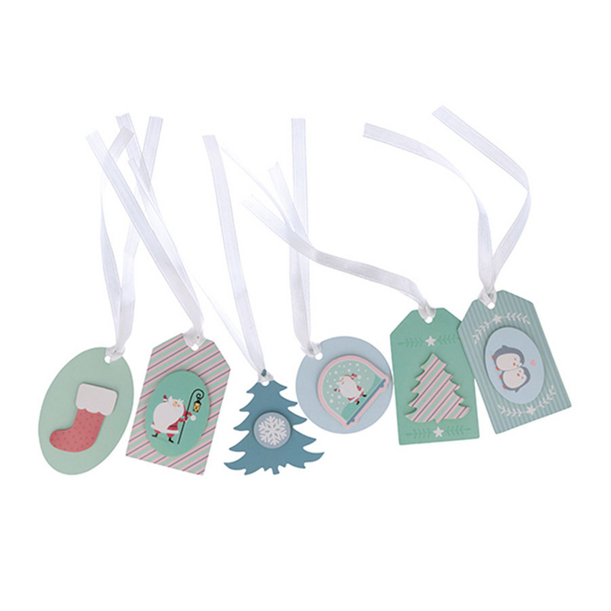 Étiquettes à cadeau 3D My Little Xmas - 12 pcs