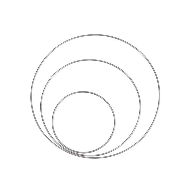Anneau en métal Ø 10 cm à 20 cm - 3 pcs