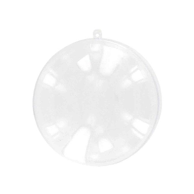 Médaillon boule en plexi 7 x 2 cm