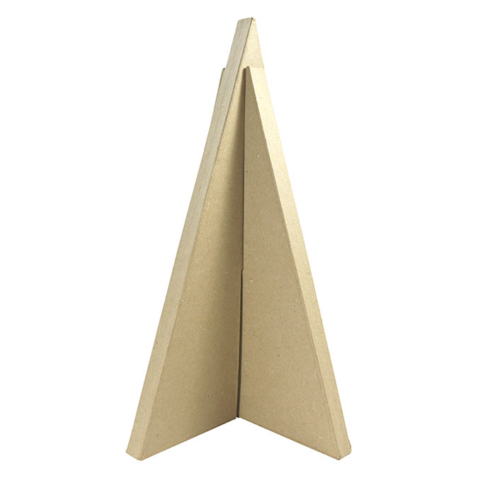 Objet en papier mâché Sapin triangle