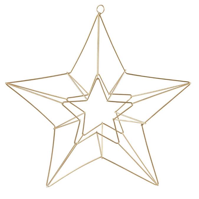 Décoration de noël Étoile en laiton à suspendre