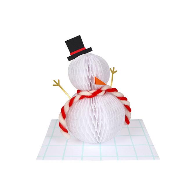 Carte de noël Bonhomme de neige 3D