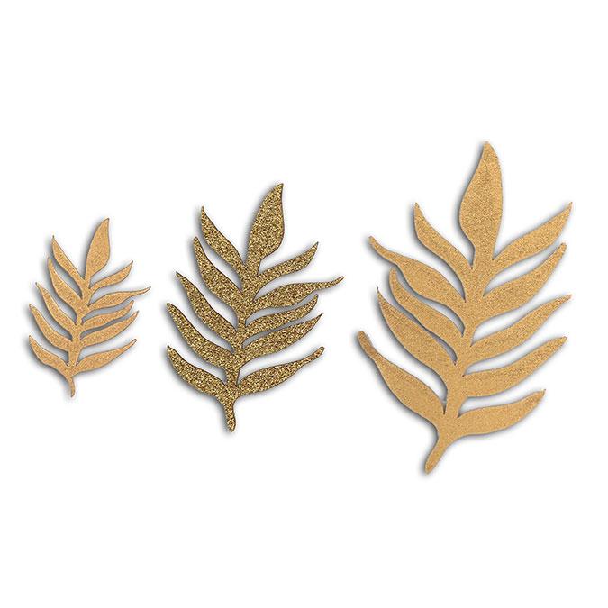 Formes découpées en papier L'or de Bombay Feuillage - 12 pcs