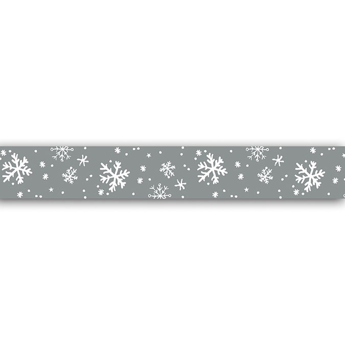 Masking tape Flocons argent 10 m