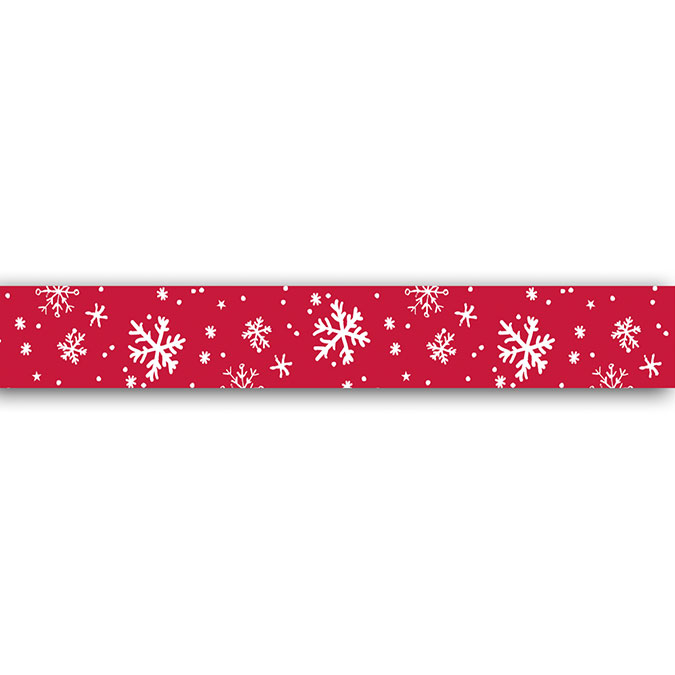 Masking tape Flocons rouges 10 m