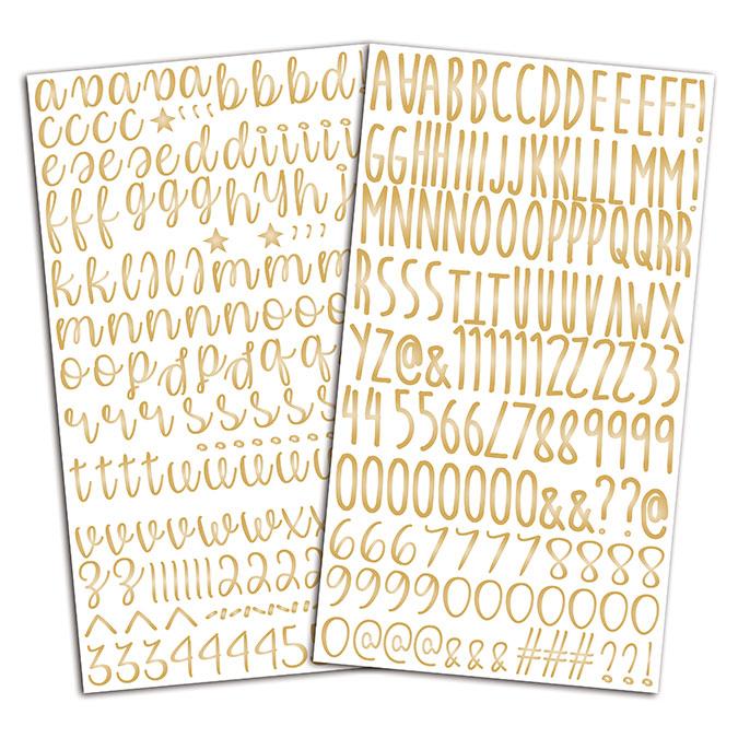 Autocollant Alphabet or - 301 pcs
