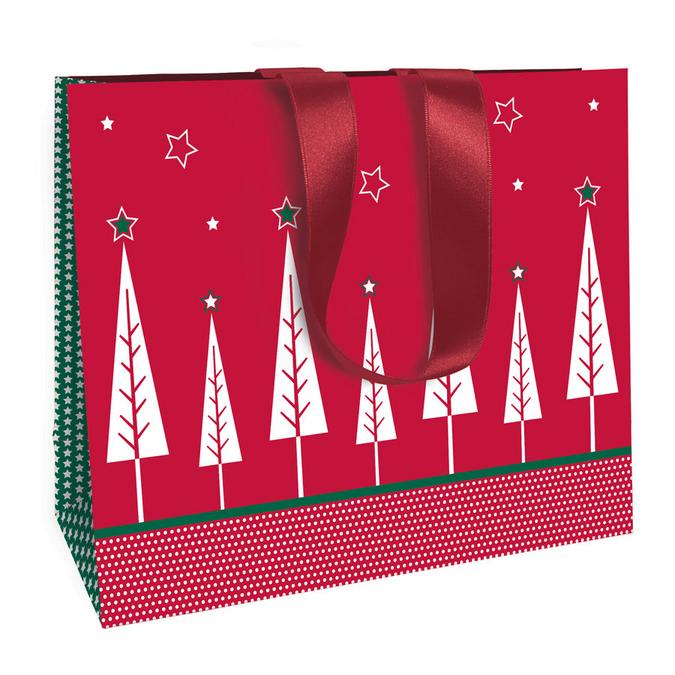 Sac cadeau Noël traditionnel chic