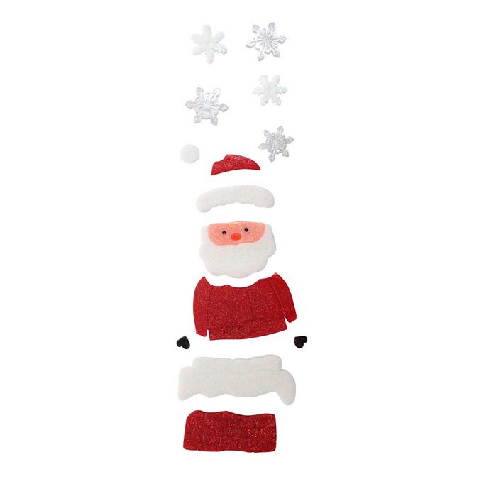 Déco Gelly Père Noël 14 pcs