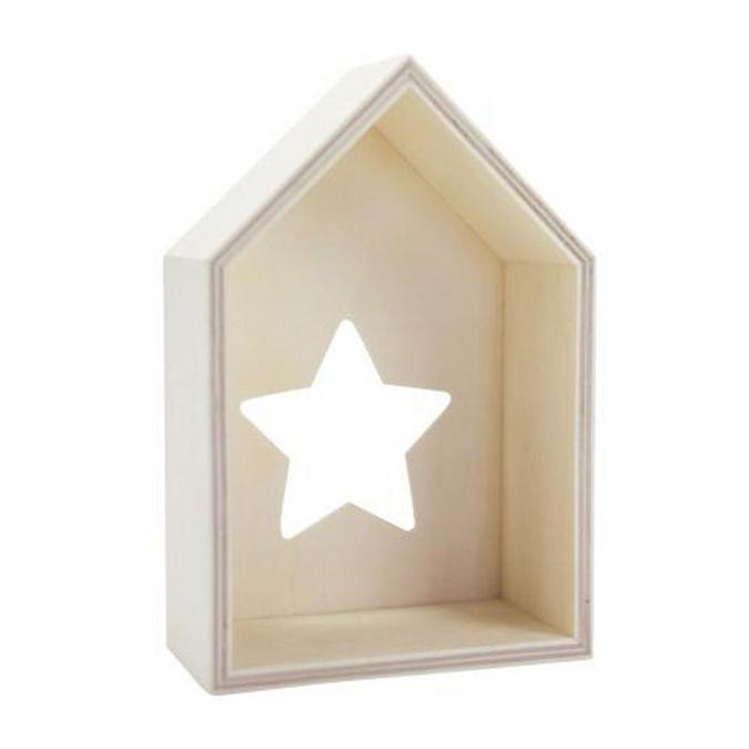 Maison en bois avec ouverture étoile