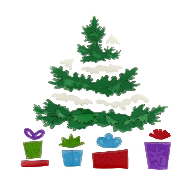 Décoration de Noël vitrostatique Sapin gelly 18 pcs