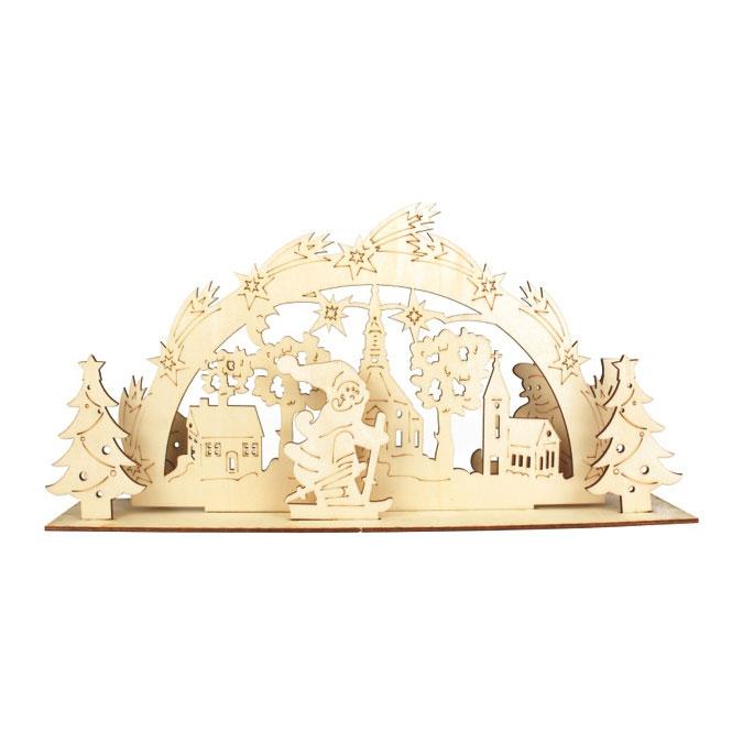 Scène de Noël en bois à assembler Décors 6 à 19 cm
