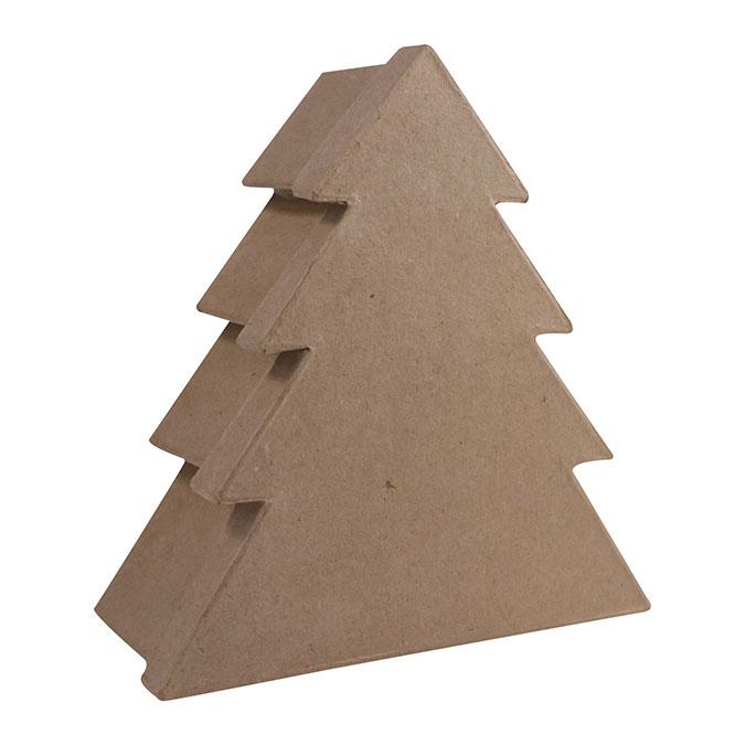 Boîte en papier mâché Sapin 8 x 20 x 18,5 cm