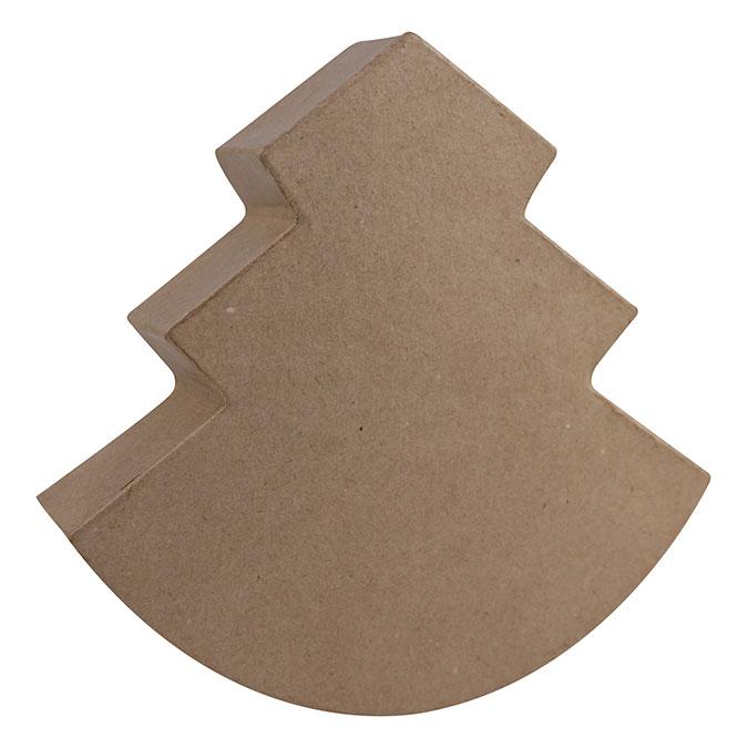Sapin en papier mâché à bascule 5 x 19,5 x 20 cm