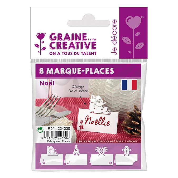 Marque-places Noël 7 cm- 8 pcs