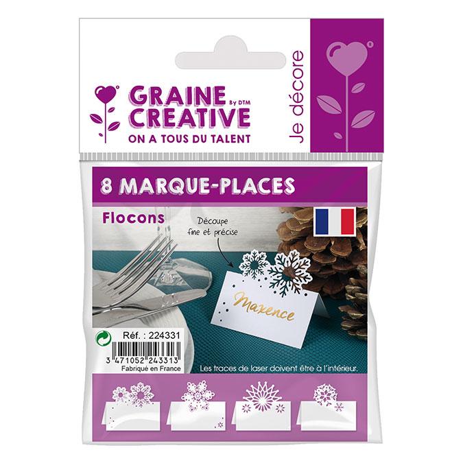 Marque-places Flocons 7 cm - 8 pcs
