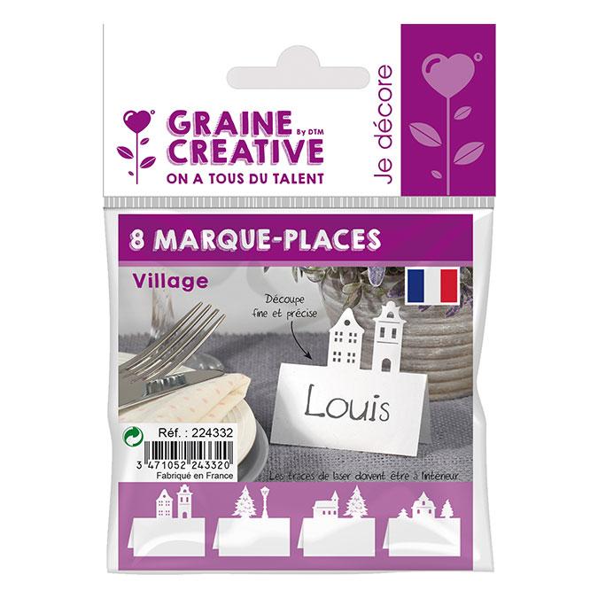 Marque-places Village 7 cm - 8 pcs