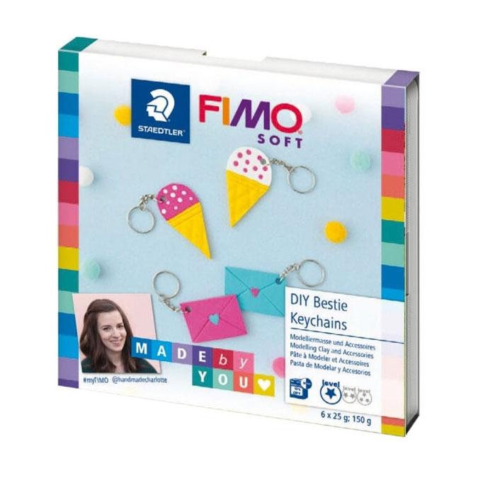 Kit FIMO Soft Made by you Porte-clefs amie