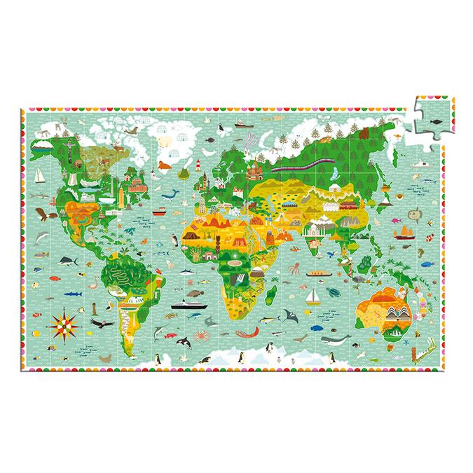 Puzzle observation Tour du monde 200 pcs