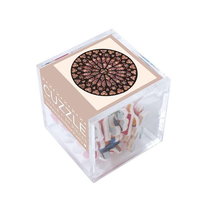 Puzzle en bois 30 pièces Notre Dame rosace